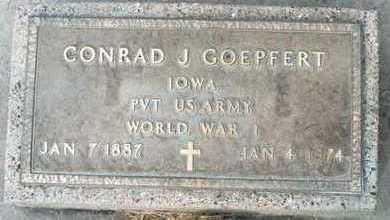 GOEPFERT, CONRAD J. - Jackson County, Iowa   CONRAD J. GOEPFERT
