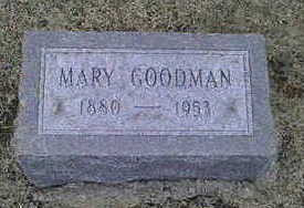 GOODMAN, MARY - Jackson County, Iowa | MARY GOODMAN