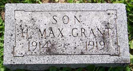 GRANT, H. MAX - Jackson County, Iowa   H. MAX GRANT