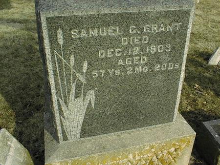 GRANT, SAMUEL C. - Jackson County, Iowa   SAMUEL C. GRANT