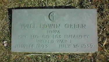 GREEN, IVILL EDWIN - Jackson County, Iowa | IVILL EDWIN GREEN