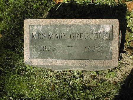GREGORICH, MARY - Jackson County, Iowa   MARY GREGORICH