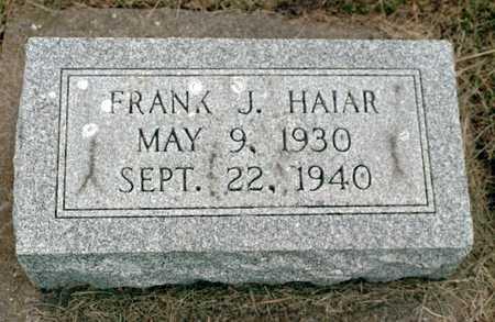 HAIAR, FRANK J. - Jackson County, Iowa | FRANK J. HAIAR