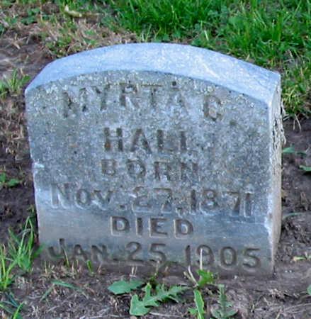MITCHELL HALL, MYRTA - Jackson County, Iowa | MYRTA MITCHELL HALL