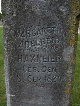HAXMEIER, MARGARETHA ADELHEID - Jackson County, Iowa   MARGARETHA ADELHEID HAXMEIER