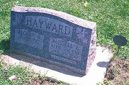 HAYWARD, RUSSELL L. - Jackson County, Iowa   RUSSELL L. HAYWARD
