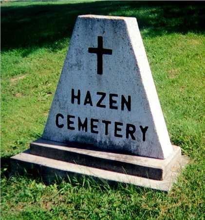 HAZEN, CEMETERY - Jackson County, Iowa | CEMETERY HAZEN