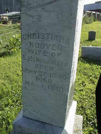 HOOVER HENDRICKSEN, CHRISTIANA - Jackson County, Iowa | CHRISTIANA HOOVER HENDRICKSEN