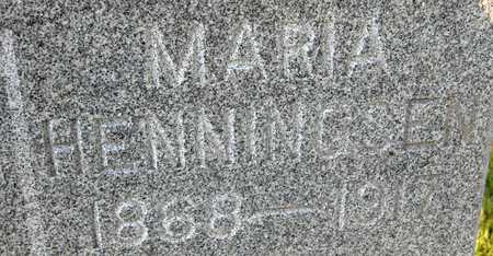HENNINGSEN, MARIA - Jackson County, Iowa | MARIA HENNINGSEN