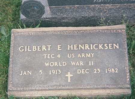 HENRICKSEN, GILBERT E. - Jackson County, Iowa   GILBERT E. HENRICKSEN