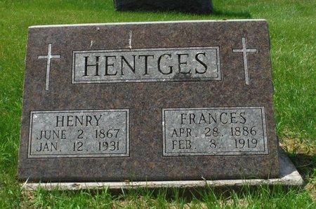 HENTGES, FRANCES - Jackson County, Iowa | FRANCES HENTGES