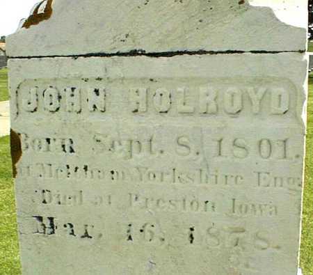 HOLROYD, JOHN - Jackson County, Iowa | JOHN HOLROYD