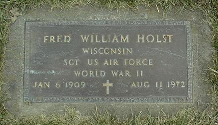 HOLST, FRED WILLIAM - Jackson County, Iowa | FRED WILLIAM HOLST