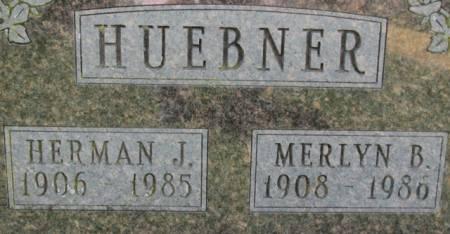 HUEBNER, HERMAN - Jackson County, Iowa   HERMAN HUEBNER