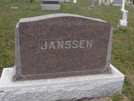 JANSSEN, FAMILY MONUMENT - Jackson County, Iowa | FAMILY MONUMENT JANSSEN
