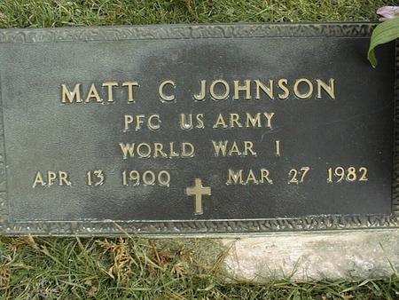 JOHNSON, MATT C. - Jackson County, Iowa | MATT C. JOHNSON