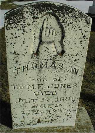 JONES, THOMAS W. - Jackson County, Iowa   THOMAS W. JONES
