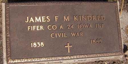 KINDRED, JAMES F. M. - Jackson County, Iowa   JAMES F. M. KINDRED