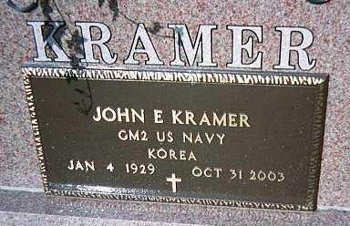 KRAMER, JOHN E. - Jackson County, Iowa | JOHN E. KRAMER