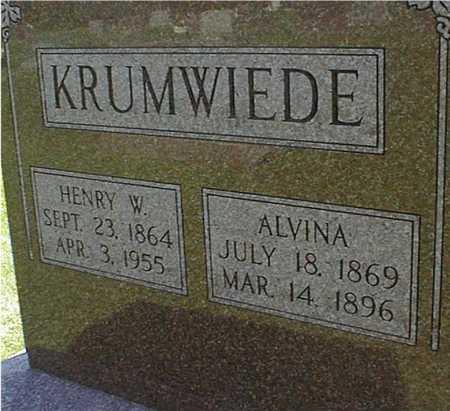 KRUMWIEDE, HENRY W. - Jackson County, Iowa | HENRY W. KRUMWIEDE