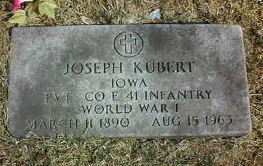 KUBERT, JOSEPH - Jackson County, Iowa | JOSEPH KUBERT