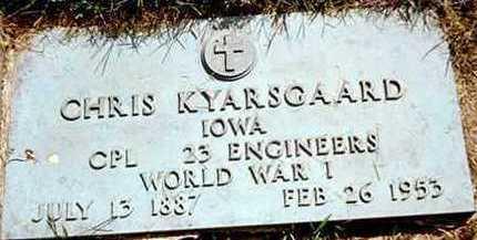KYARSGAARD, CHRIS - Jackson County, Iowa   CHRIS KYARSGAARD
