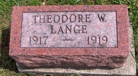 LANGE, THEODORE W. - Jackson County, Iowa | THEODORE W. LANGE