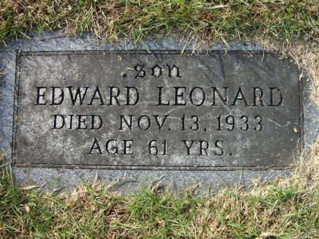 LEONARD, EDWARD - Jackson County, Iowa | EDWARD LEONARD