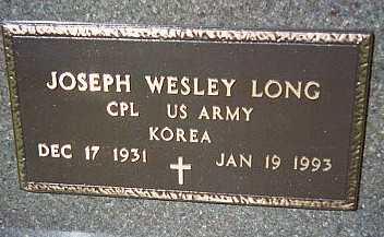 LONG, JOSEPH WESLEY - Jackson County, Iowa | JOSEPH WESLEY LONG