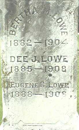 LOWE, DEE J. - Jackson County, Iowa | DEE J. LOWE