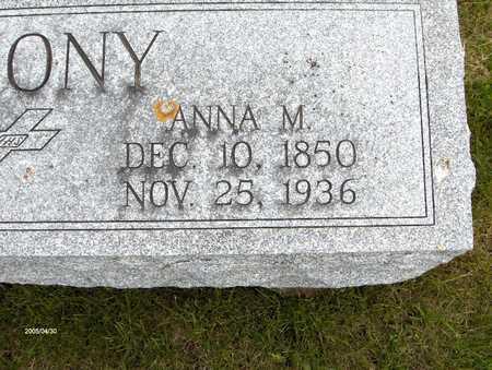 MAHONY, ANNA M. - Jackson County, Iowa | ANNA M. MAHONY