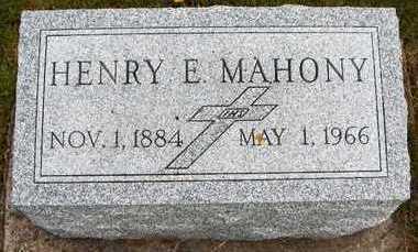 MAHONY, HENRY E. - Jackson County, Iowa | HENRY E. MAHONY