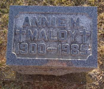 MALOY, ANNIE M. - Jackson County, Iowa | ANNIE M. MALOY