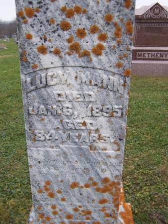 MANN, LUCY - Jackson County, Iowa   LUCY MANN