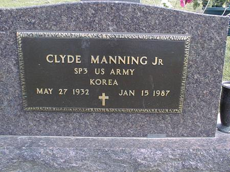 MANNING, CLYDE, JR. - Jackson County, Iowa | CLYDE, JR. MANNING