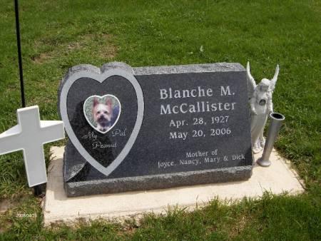 MCCALLISTER, BLANCHE M. - Jackson County, Iowa   BLANCHE M. MCCALLISTER