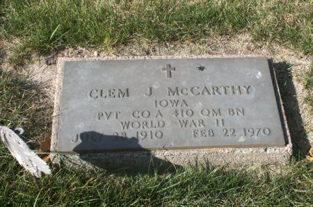 MCCARTHY, CLEM J. - Jackson County, Iowa | CLEM J. MCCARTHY