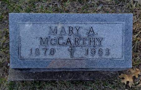 MCCARTHY, MARY A. - Jackson County, Iowa | MARY A. MCCARTHY