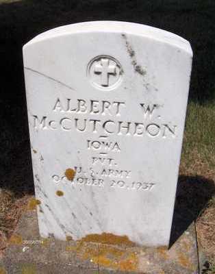 MCCUTCHEON, ALBERT W. - Jackson County, Iowa | ALBERT W. MCCUTCHEON