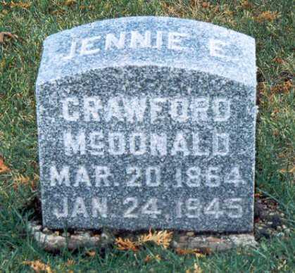 SMITH MCDONALD, JENNIE ELIZABETH - Jackson County, Iowa | JENNIE ELIZABETH SMITH MCDONALD