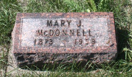 MCDONNELL, MARY J. - Jackson County, Iowa   MARY J. MCDONNELL