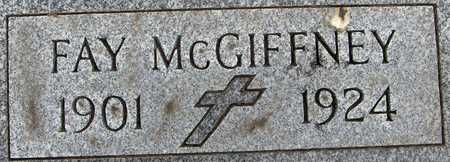 MCGIFFNEY, FAY - Jackson County, Iowa   FAY MCGIFFNEY