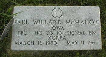 MCMAHON, PAUL WILLARD - Jackson County, Iowa | PAUL WILLARD MCMAHON