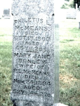 MCMEANS, MARY JANE - Jackson County, Iowa | MARY JANE MCMEANS