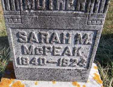 MCPEAK, SARAH M. - Jackson County, Iowa | SARAH M. MCPEAK