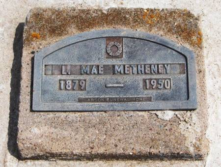 METHENEY, L. MAE - Jackson County, Iowa | L. MAE METHENEY