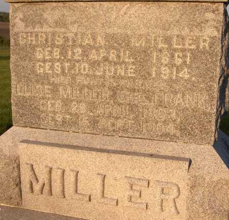 MILLER, CHRISTIAN - Jackson County, Iowa | CHRISTIAN MILLER