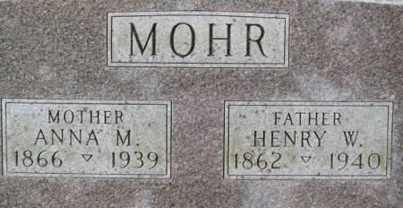 MOHR, HENRY - Jackson County, Iowa   HENRY MOHR