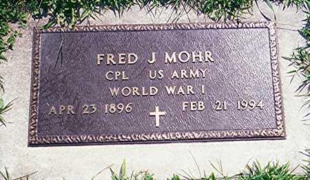 MOHR, CPL FRED J. - Jackson County, Iowa   CPL FRED J. MOHR