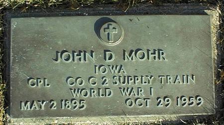 MOHR, JOHN D. - Jackson County, Iowa | JOHN D. MOHR